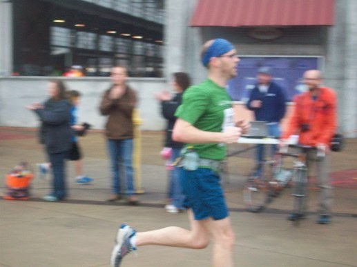 Amanda took this pic near the finish line. See how fast it looks like I'm going?