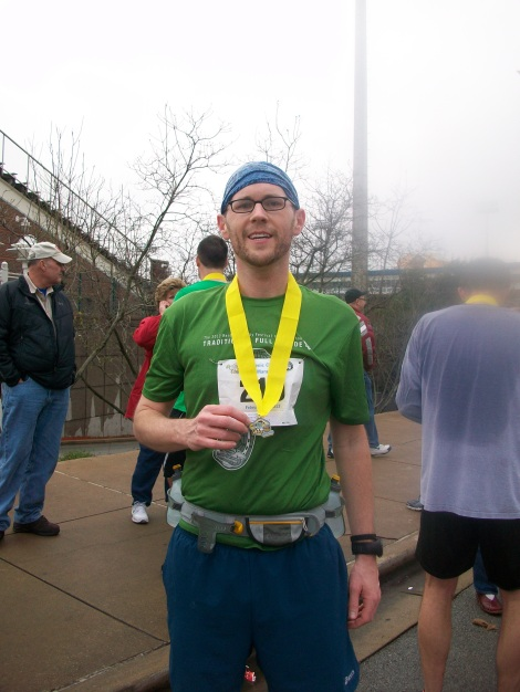 Me, my medal and the worst example of a beard you'll see on the Internet today.