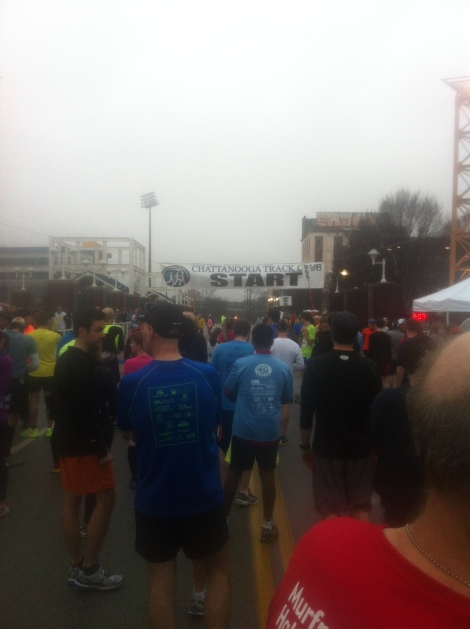 This is the closest I've ever been to a start line.