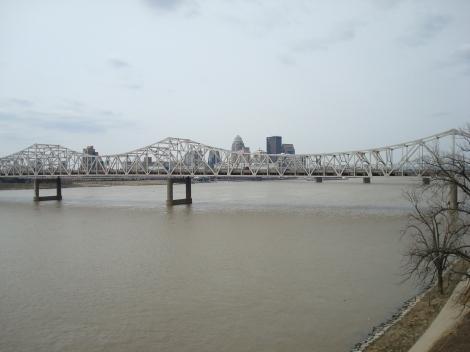 Big Four Bridge Downtown from Jeff