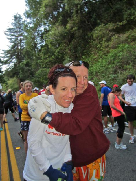 Howard and his daughter, Cara, before the 2011 Big Sur International Marathon