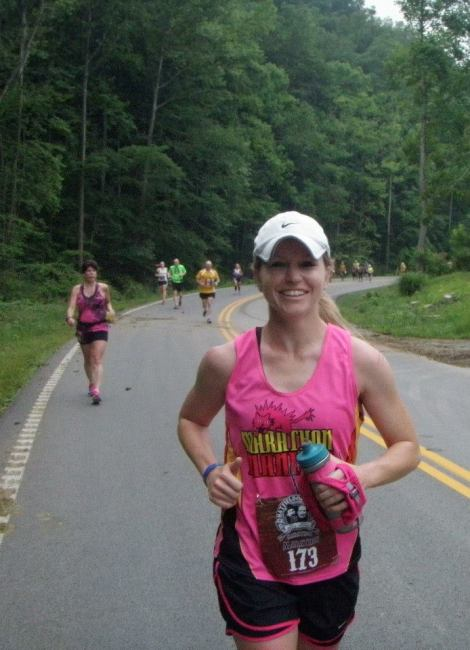 T-Rex Runner at the 2013 Hatfield-McCoy Marathon