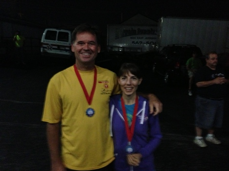 Michael and Tammy with their fancy medals