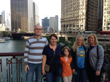My family and I in Chicago