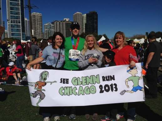Me, my sisters, my nieces and the AWESOME banner