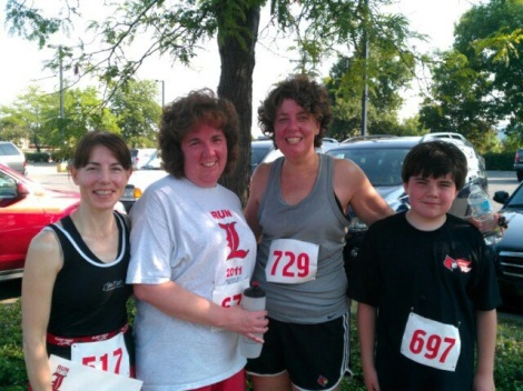 Tammy and friends after the 2012 UofL Run for the L of It.