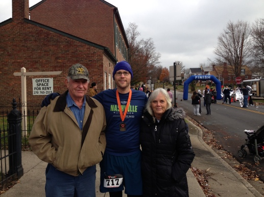 Me and my folks after the race