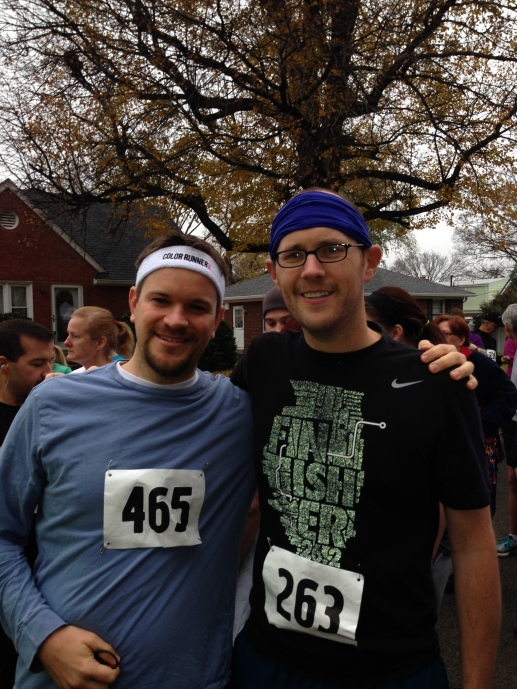 Andy and me, pre-race