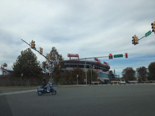 LP Field. Yet another awesome pic from the car.