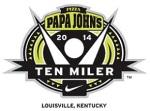 papa johns 10 miler logo