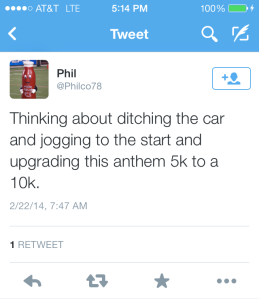 2014 Anthem 5k tweet 2