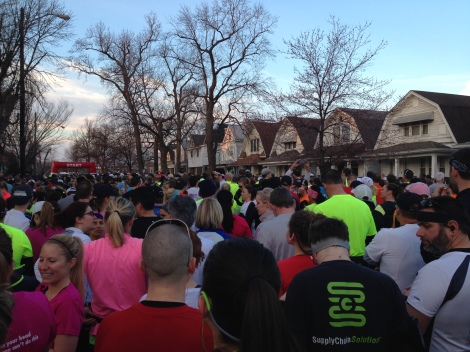 We were so far back. It took me over 4 minutes to cross the start line.