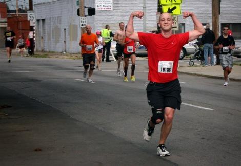 Brad in the 2012 Kentucky Derby Festival Marathon